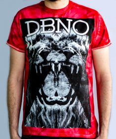 Red Tie-Dye Roaring Lion