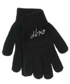 Black gloves with DBNO script