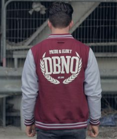 College Varsity Unisex Jacket Burgundy & Grey