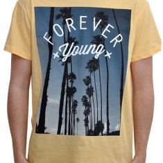 Forever Young Unisex Tee in Yellow