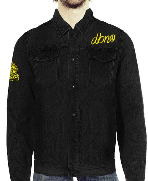3cf384b17c26 Peace Black Denim Jacket