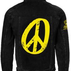 Peace Black Denim Jacket