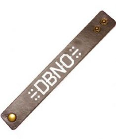 Press-on Leather DBNO wristband