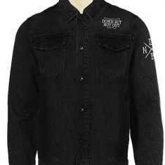 'Skull' Black Denim Unisex Jacket