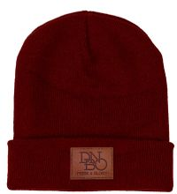 maroon-pride-glory-leather-patch-beanie-hat-
